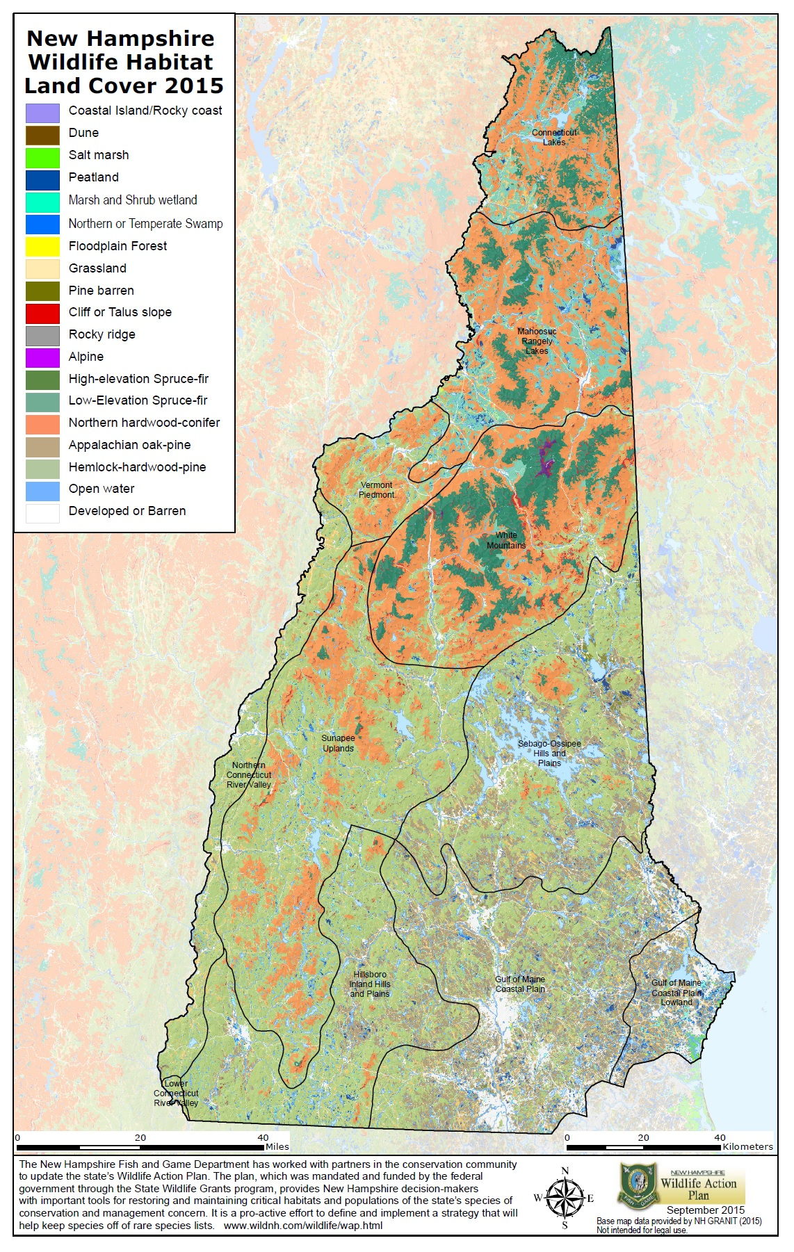 NH Wildlife Action Plan and Habitat Maps | Wildlife | New Hampshire ...